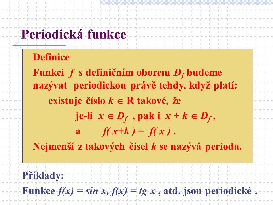 Periodická funkce Definice