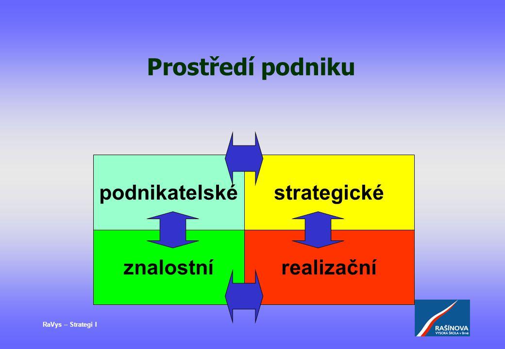 Prostředí podniku podnikatelské strategické znalostní realizační