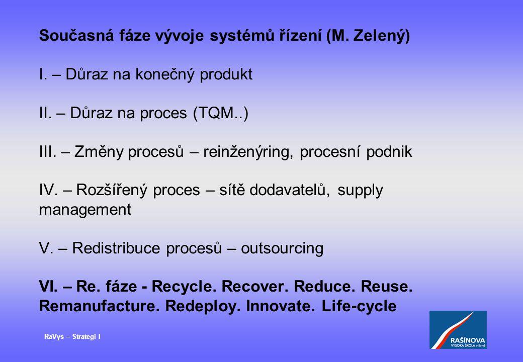Současná fáze vývoje systémů řízení (M. Zelený) I