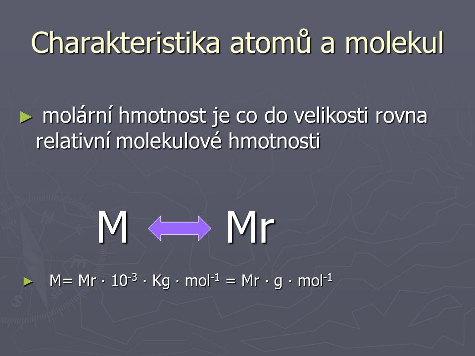 Charakteristika atomů a molekul