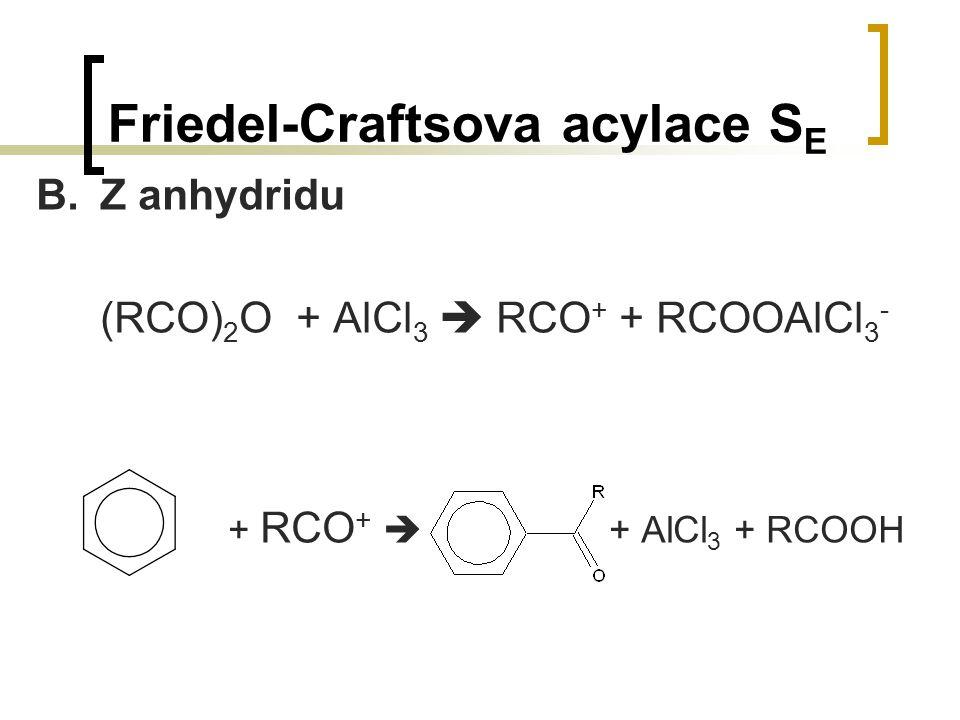 Friedel-Craftsova acylace SE