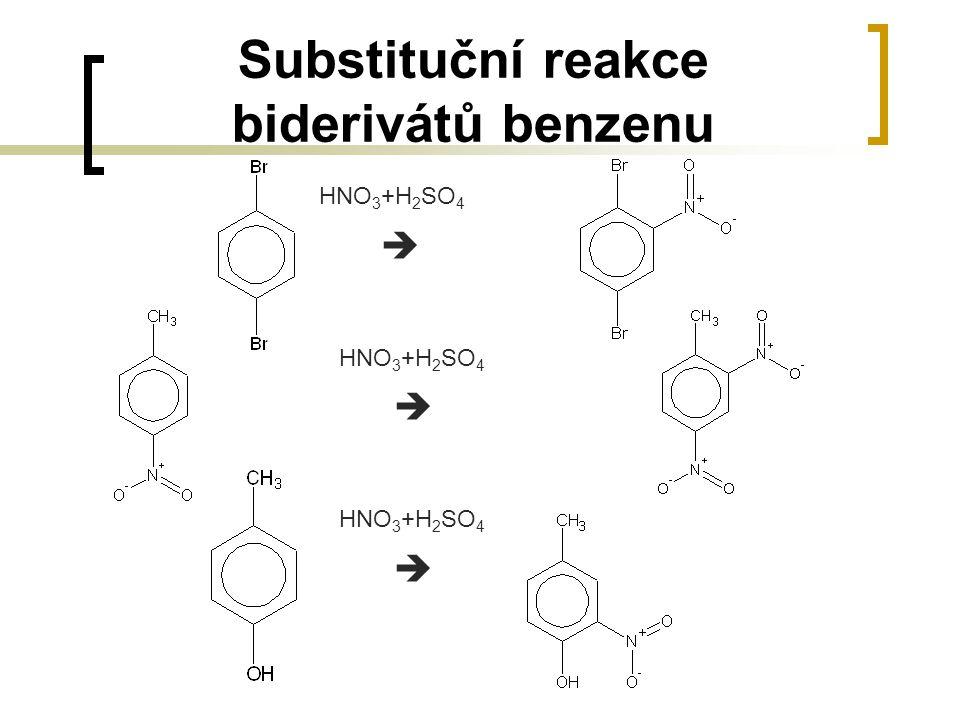 Substituční reakce biderivátů benzenu