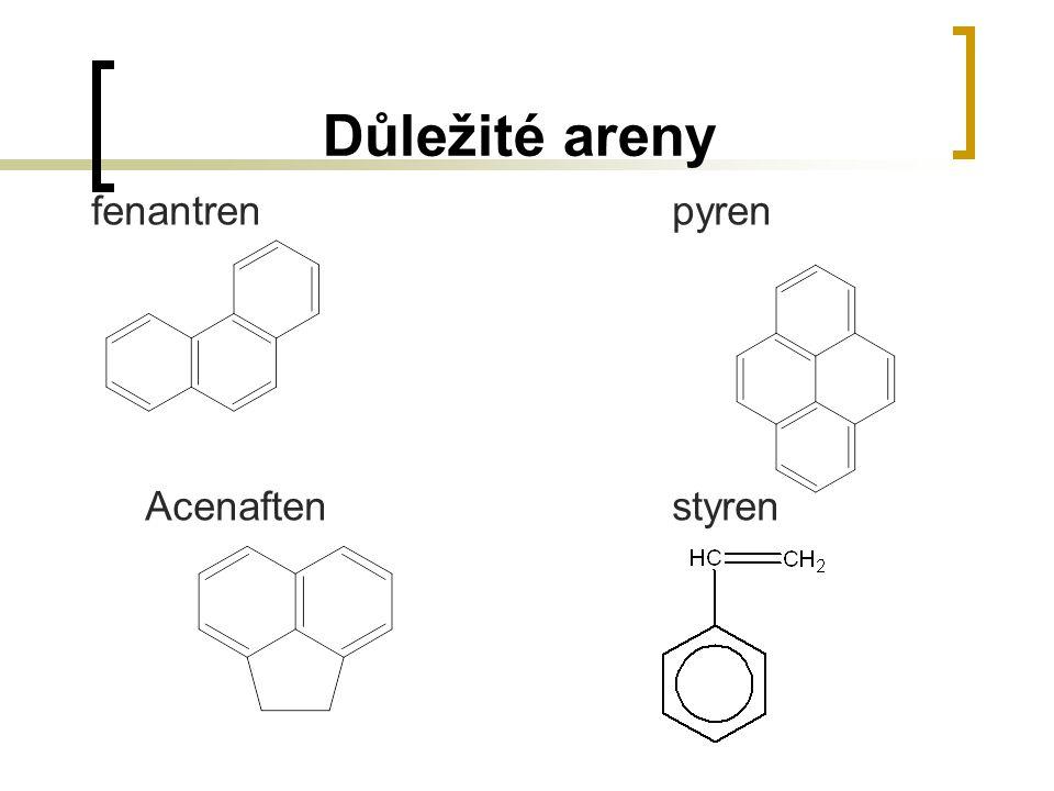 Důležité areny fenantren pyren Acenaften styren
