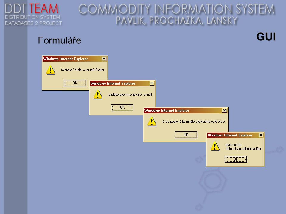 GUI Formuláře