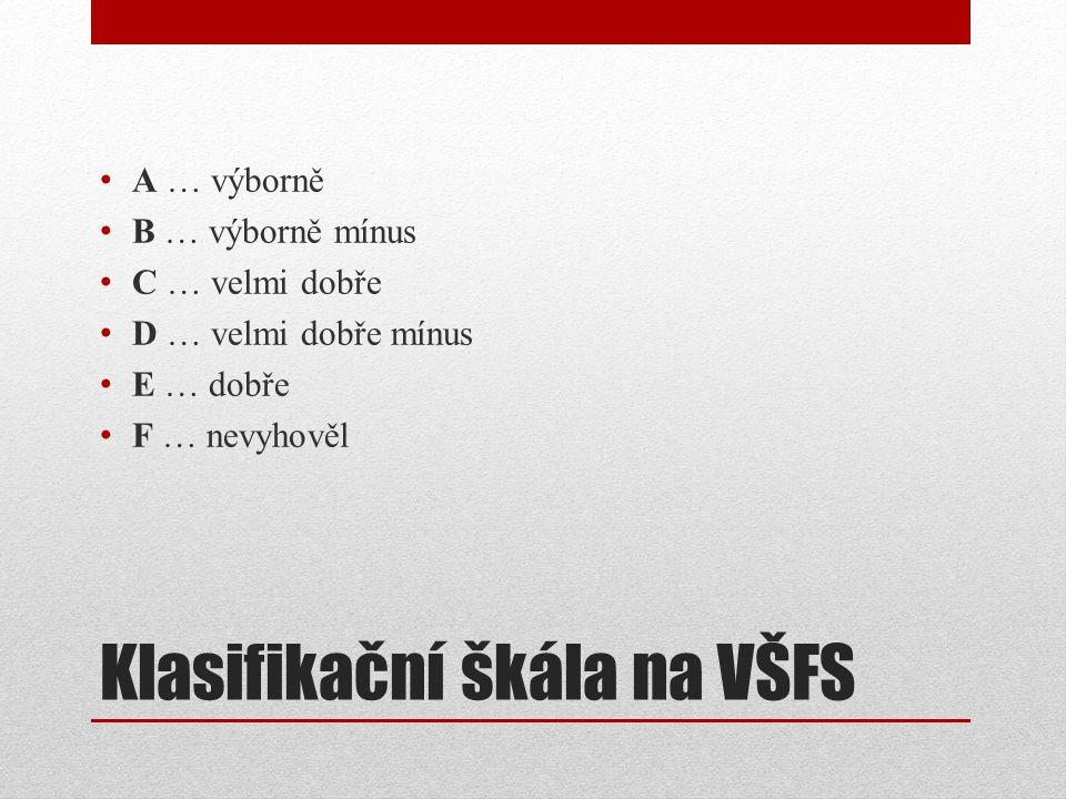 Klasifikační škála na VŠFS