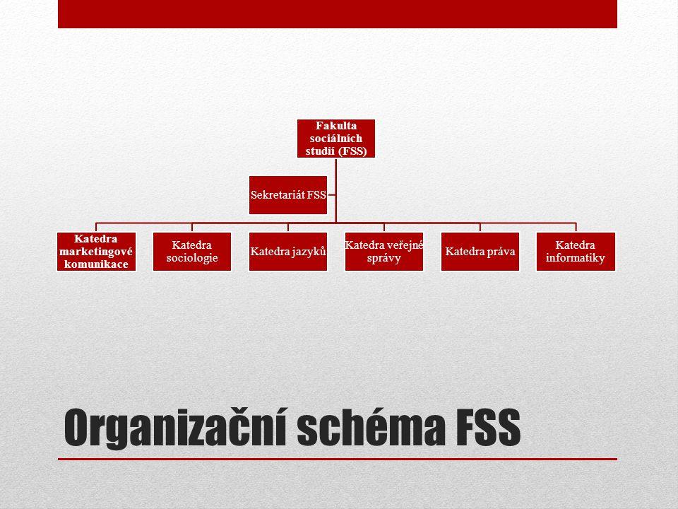 Organizační schéma FSS
