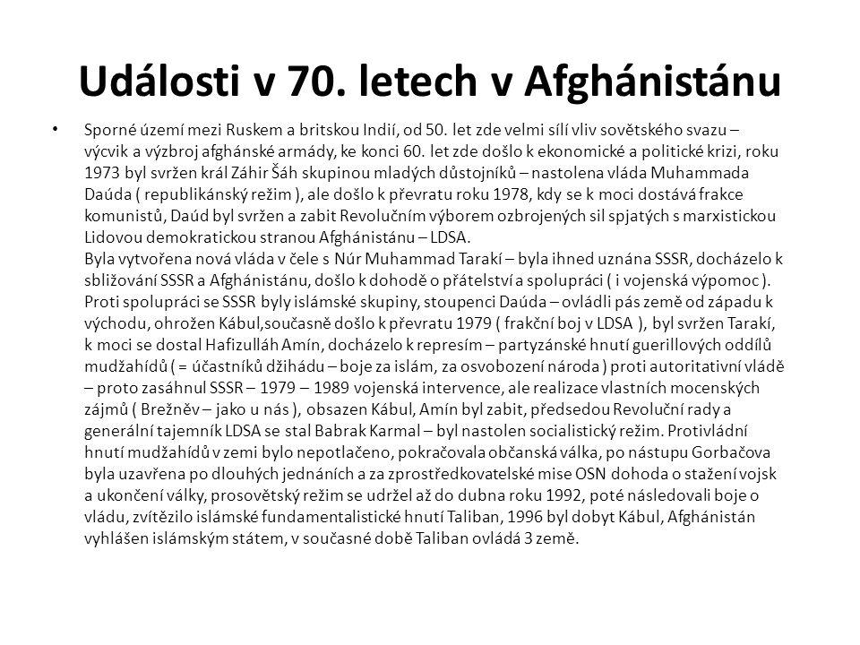 Události v 70. letech v Afghánistánu