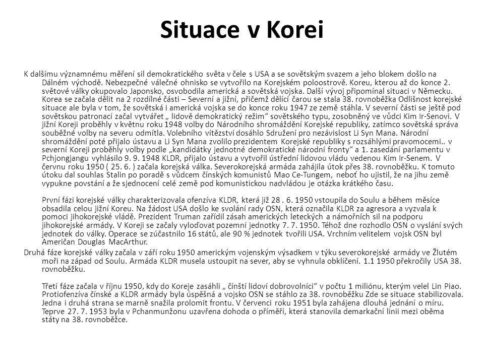 Situace v Korei