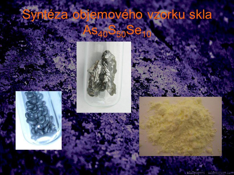 Syntéza objemového vzorku skla As40S50Se10