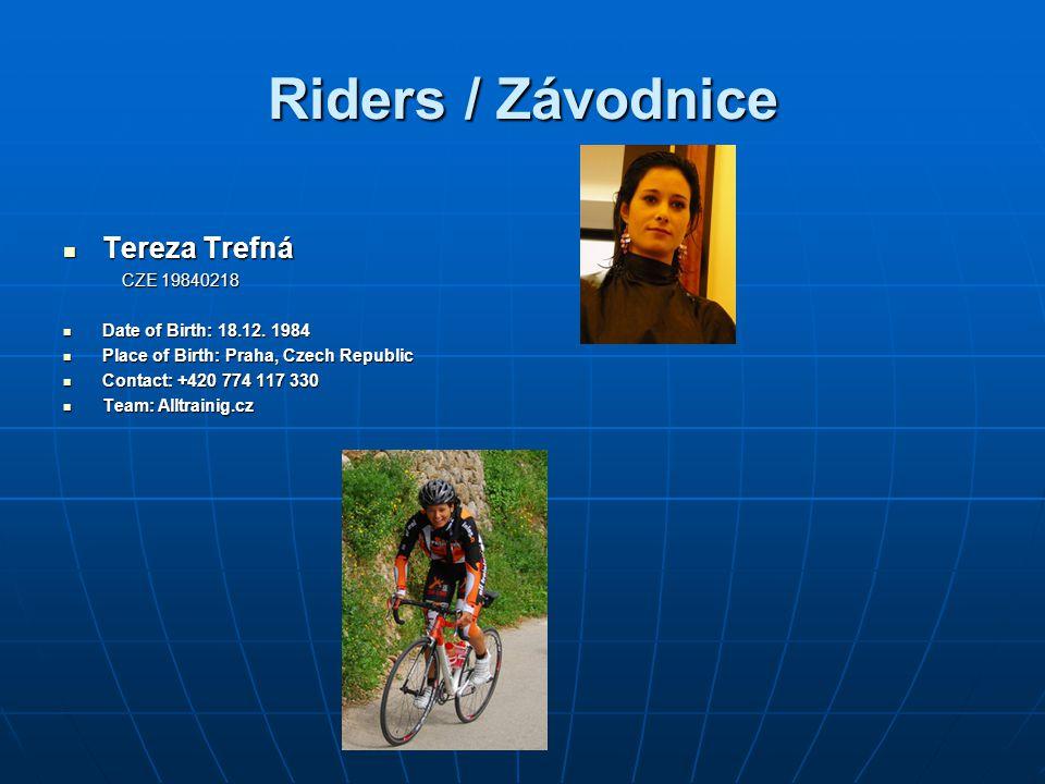Riders / Závodnice Tereza Trefná CZE 19840218