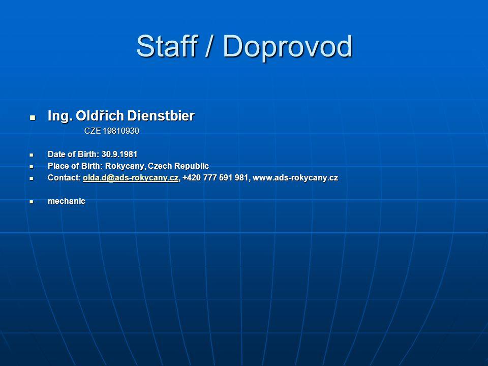 Staff / Doprovod Ing. Oldřich Dienstbier CZE 19810930