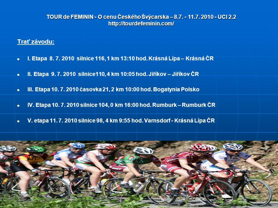 TOUR de FEMININ - O cenu Českého Švýcarska – 8. 7. - 11. 7