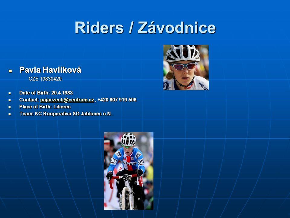 Riders / Závodnice Pavla Havlíková CZE 19830420
