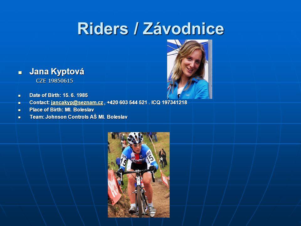 Riders / Závodnice Jana Kyptová CZE 19850615