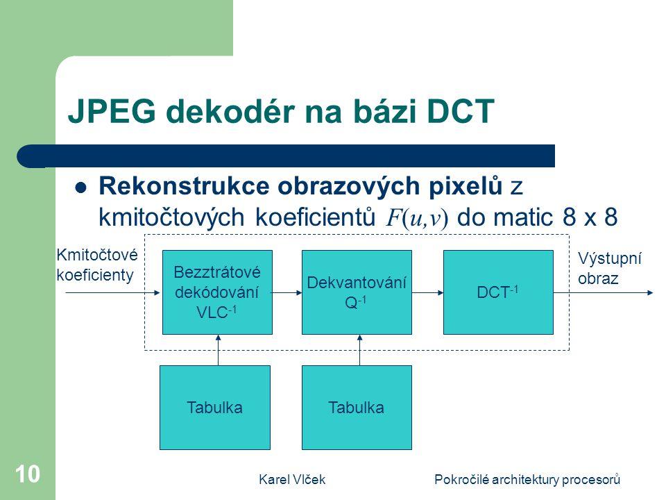 JPEG dekodér na bázi DCT