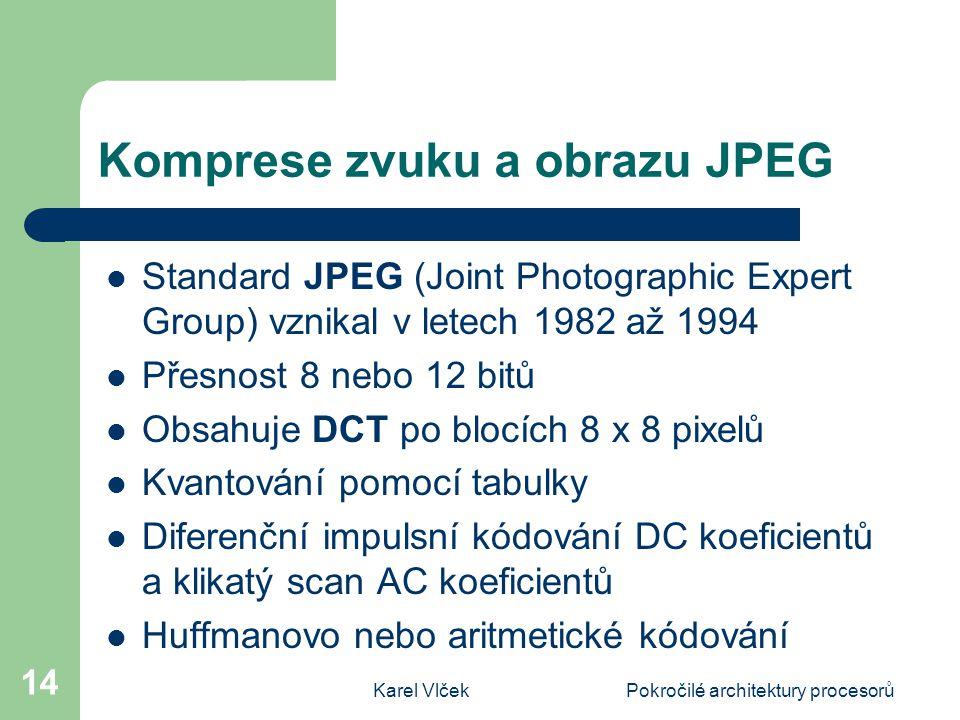 Komprese zvuku a obrazu JPEG