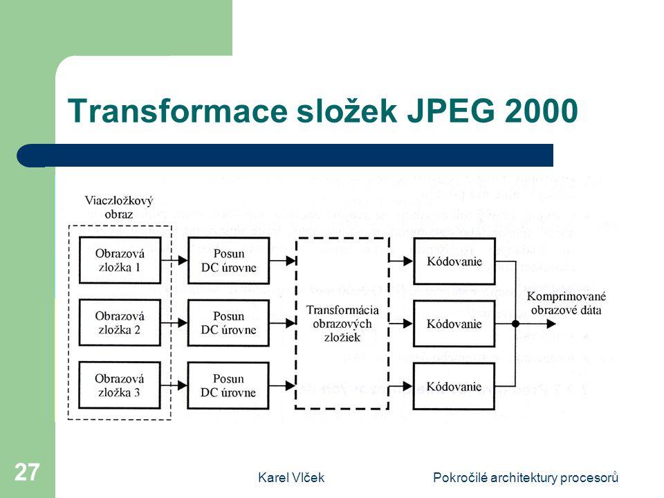 Transformace složek JPEG 2000