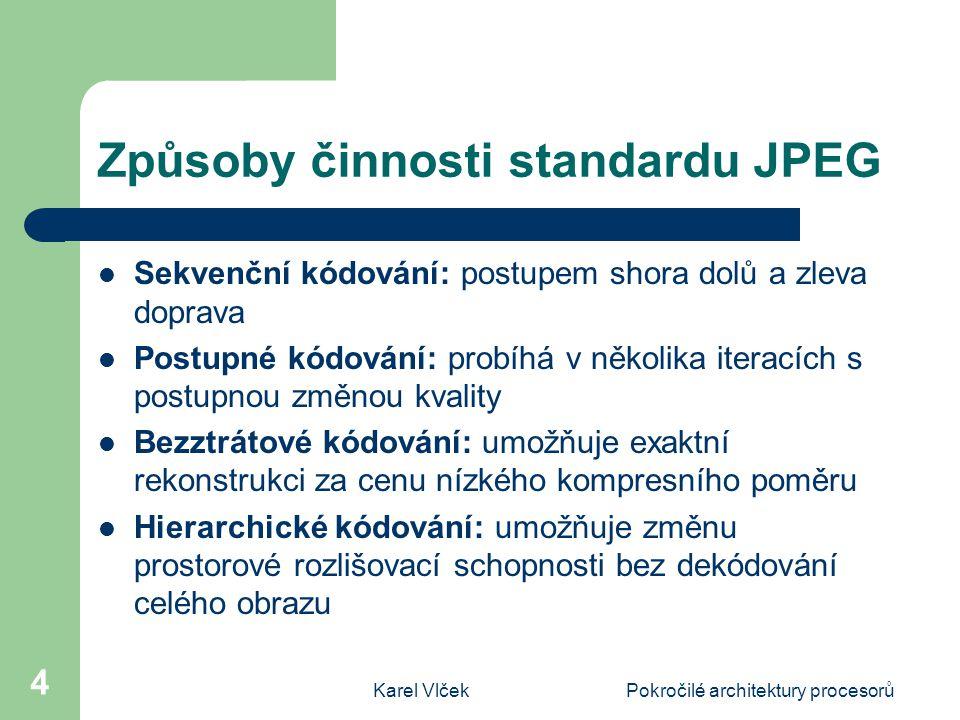 Způsoby činnosti standardu JPEG