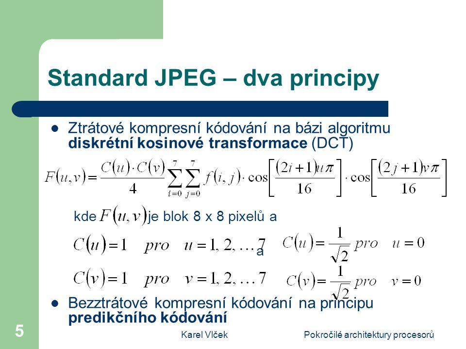 Standard JPEG – dva principy