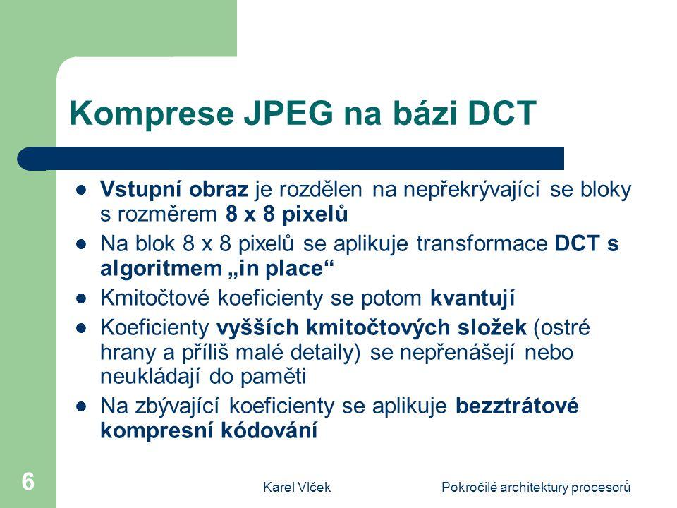 Komprese JPEG na bázi DCT