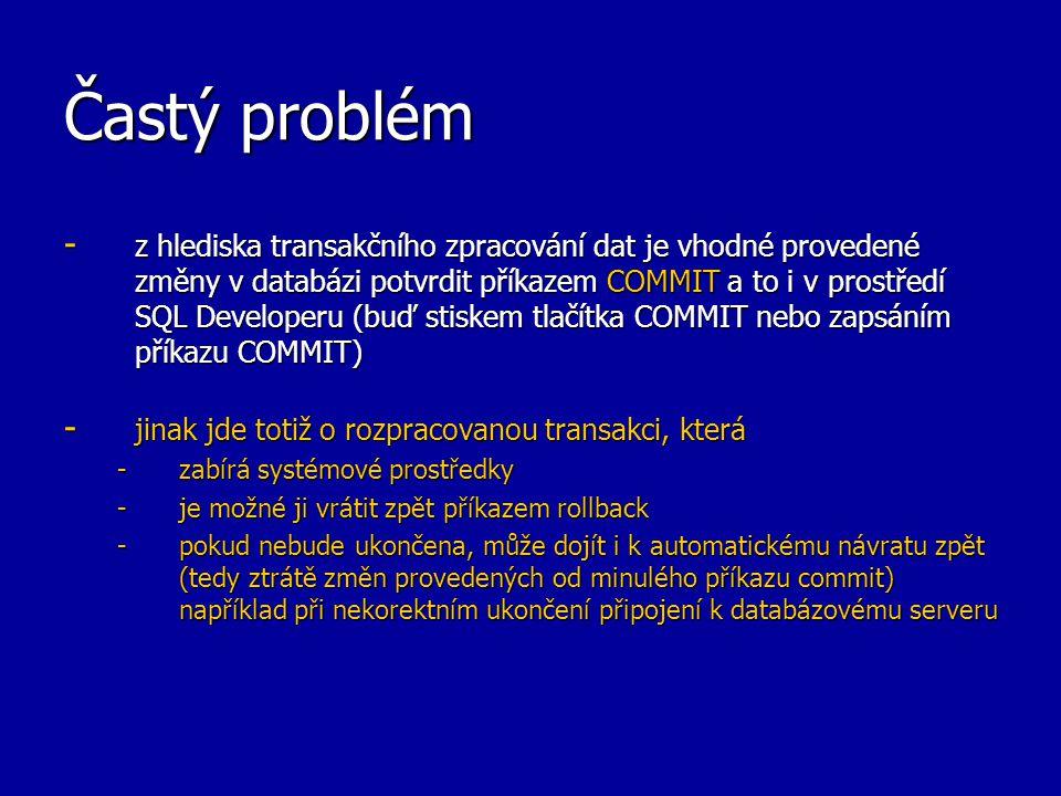 Častý problém
