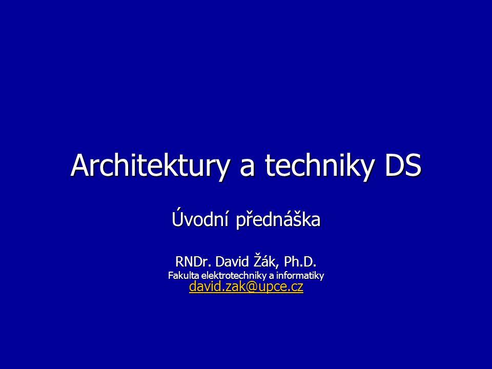 Architektury a techniky DS