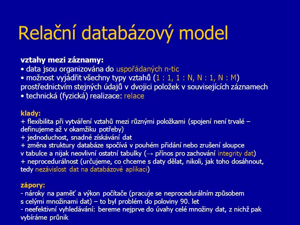 Relační databázový model
