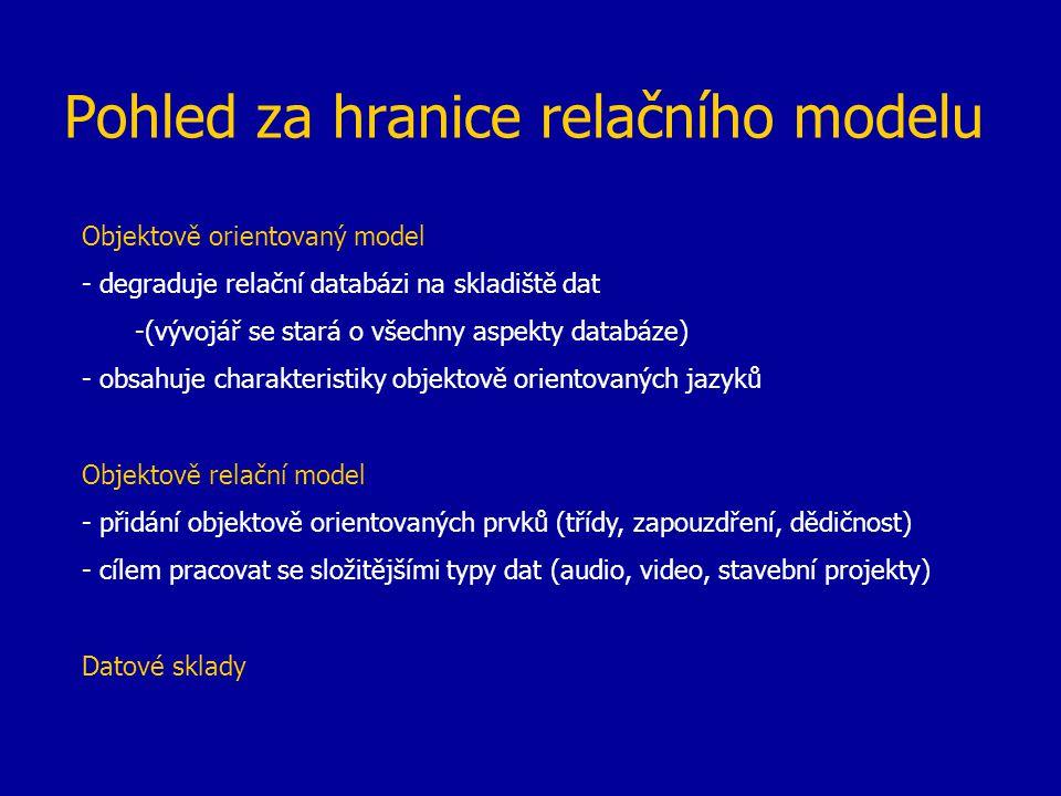 Pohled za hranice relačního modelu