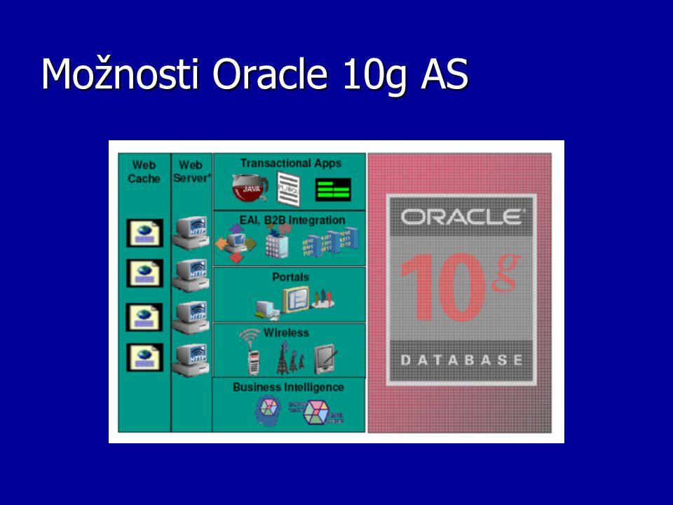 Možnosti Oracle 10g AS