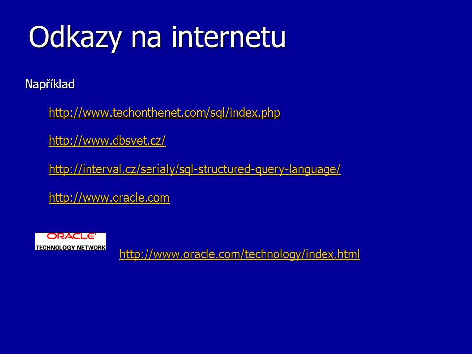 Odkazy na internetu Například