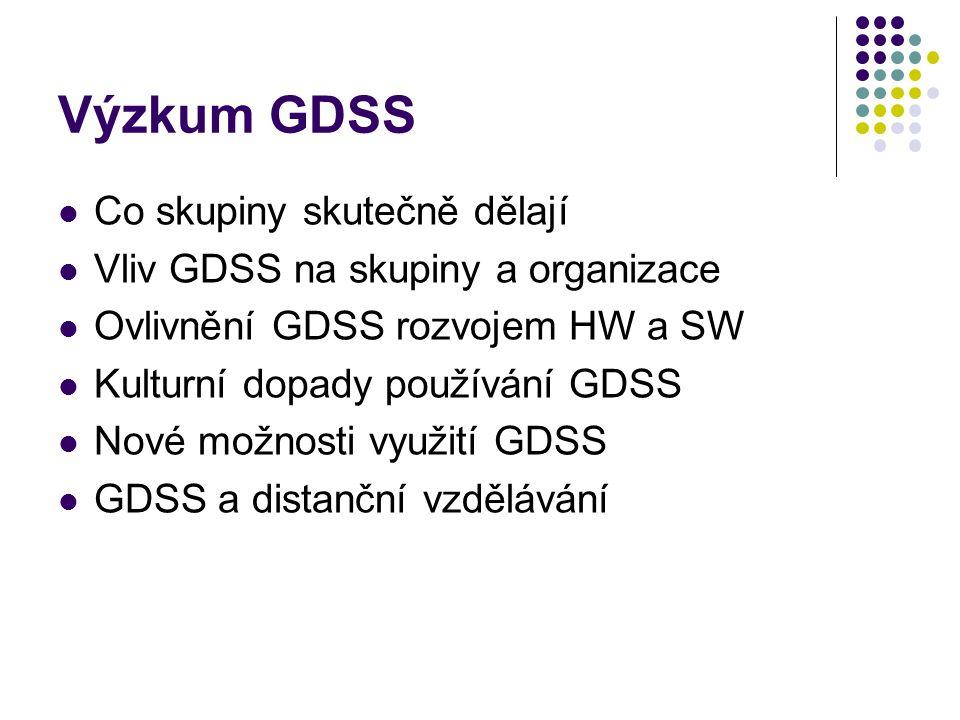 Výzkum GDSS Co skupiny skutečně dělají