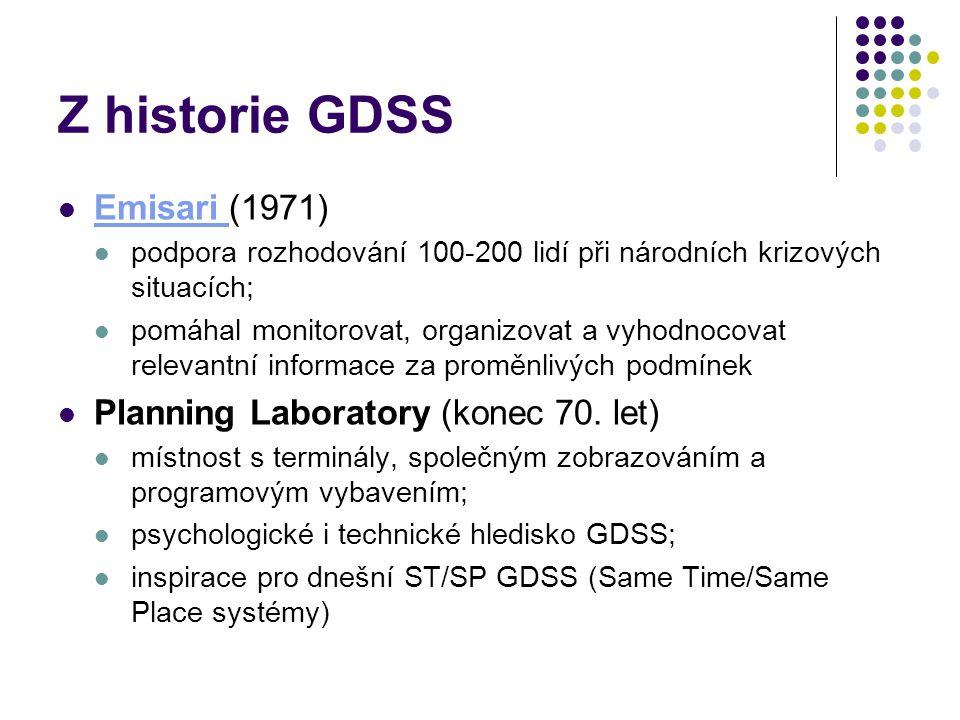 Z historie GDSS Emisari (1971) Planning Laboratory (konec 70. let)