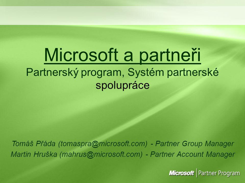 Microsoft a partneři Partnerský program, Systém partnerské spolupráce