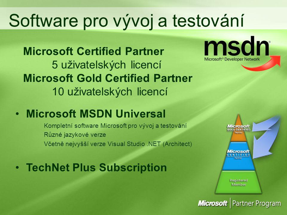 Software pro vývoj a testování