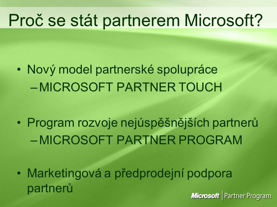 Proč se stát partnerem Microsoft