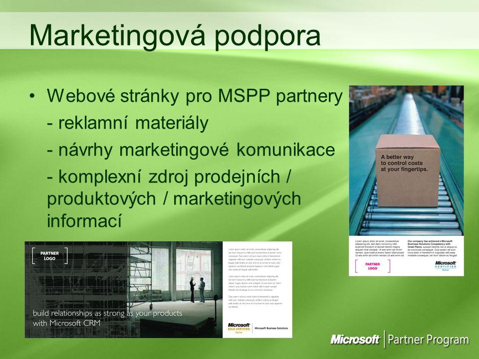 Marketingová podpora Webové stránky pro MSPP partnery