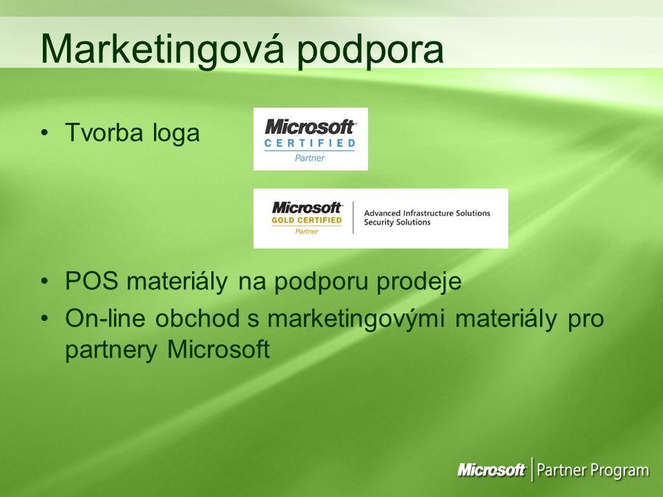 Marketingová podpora Tvorba loga POS materiály na podporu prodeje
