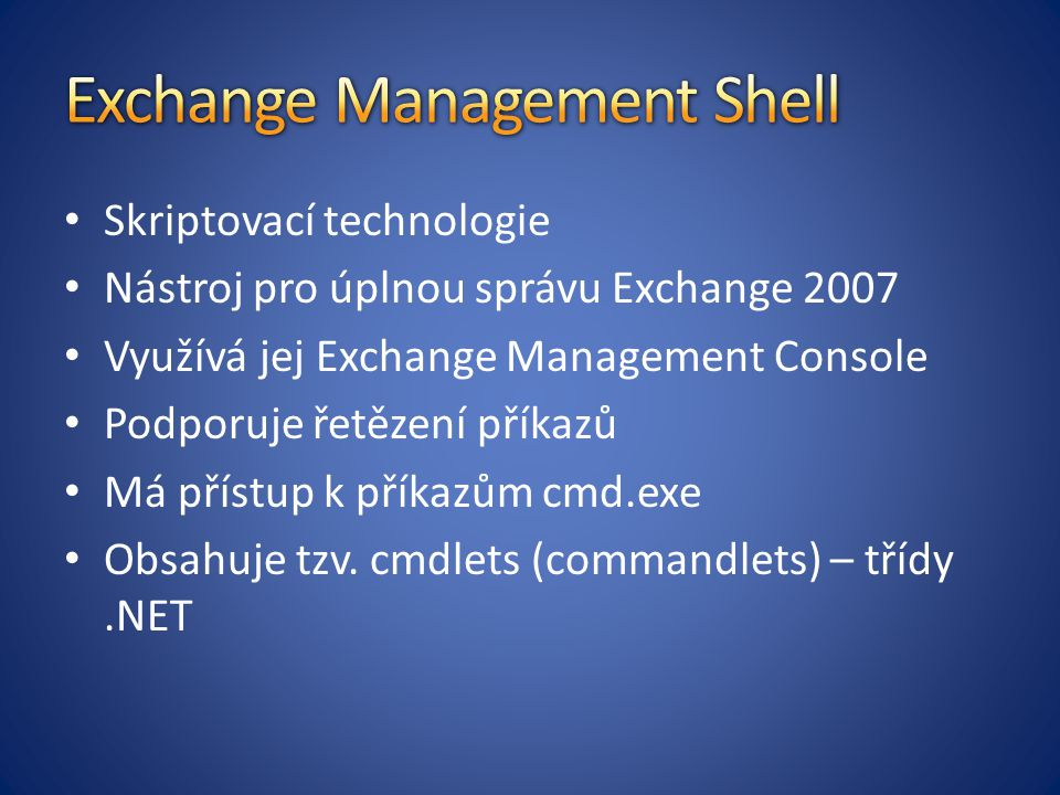 Exchange Management Shell
