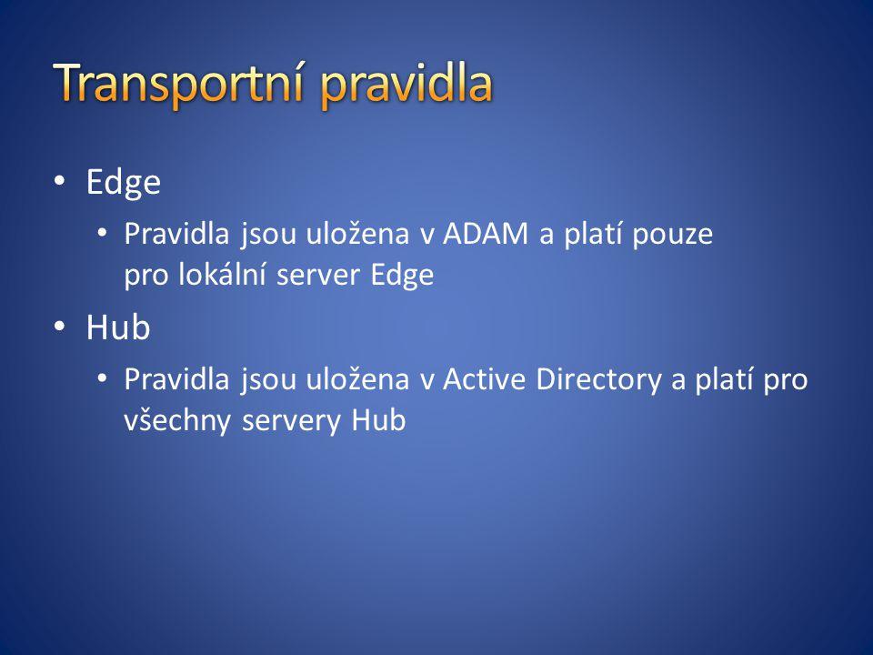 Transportní pravidla Edge Hub