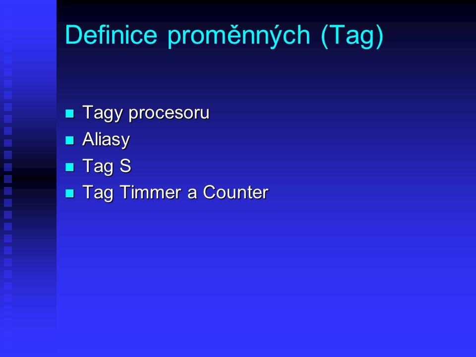 Definice proměnných (Tag)