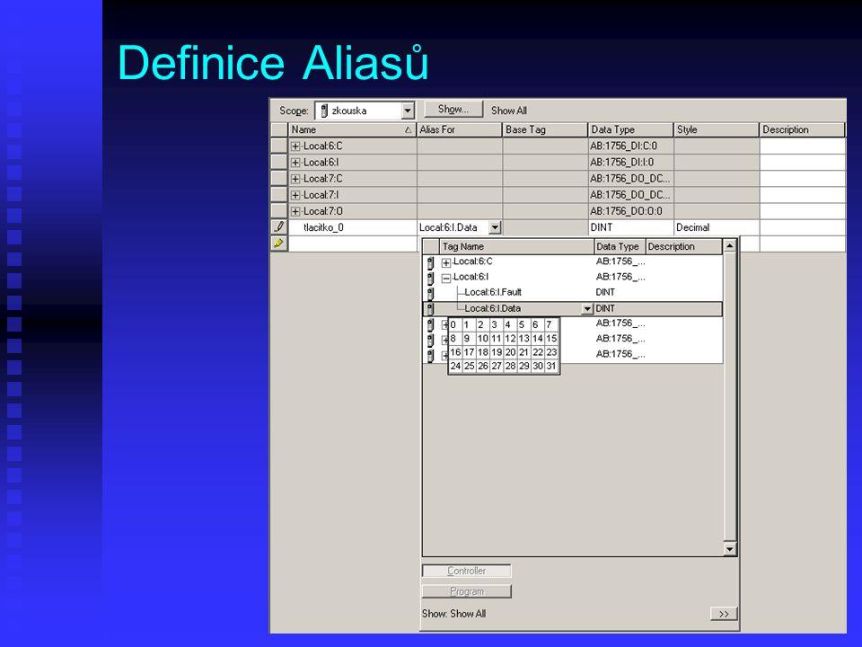 Definice Aliasů