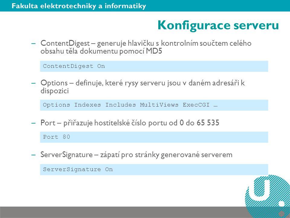 Konfigurace serveru ContentDigest – generuje hlavičku s kontrolním součtem celého obsahu těla dokumentu pomocí MD5.