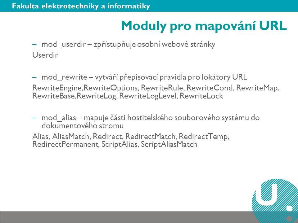 Moduly pro mapování URL