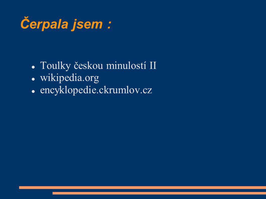 Čerpala jsem : Toulky českou minulostí II wikipedia.org