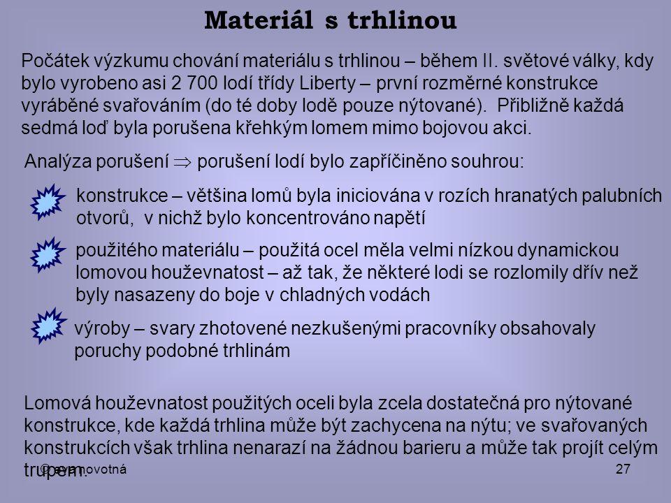 Materiál s trhlinou