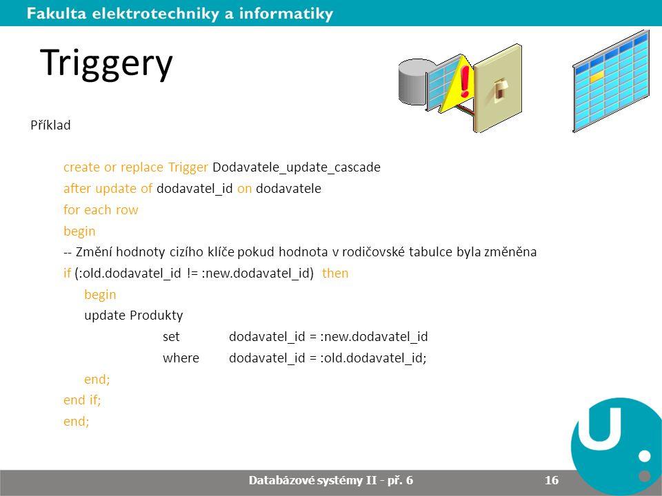 Databázové systémy II - př. 6