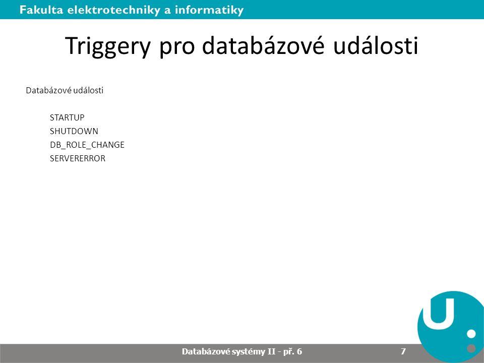Triggery pro databázové události