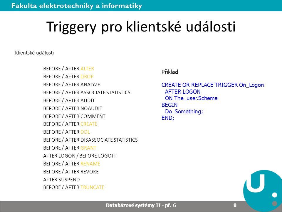 Triggery pro klientské události