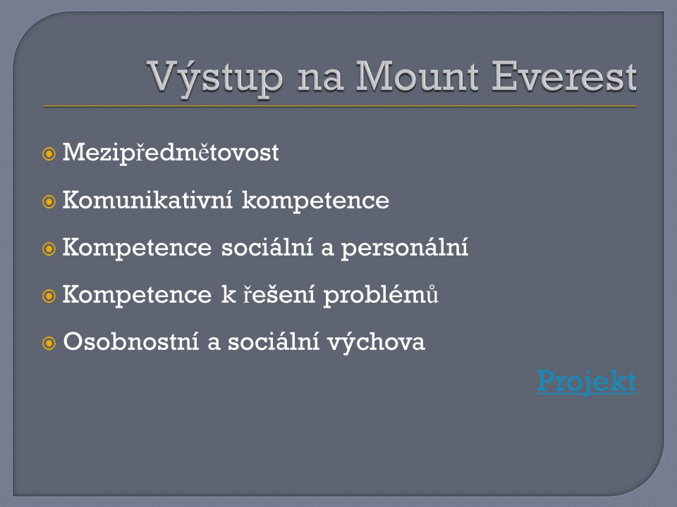 Výstup na Mount Everest