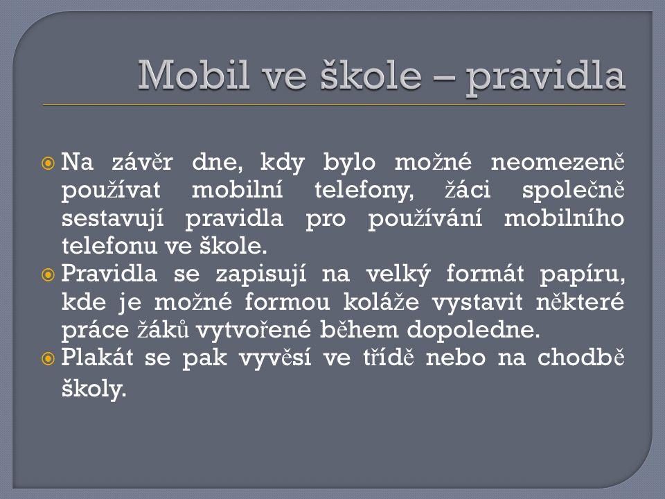 Mobil ve škole – pravidla